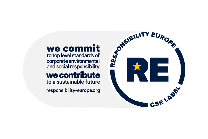 HITEC Luxembourg obtained the Label RE – Responsibility Europe (CSR Label)